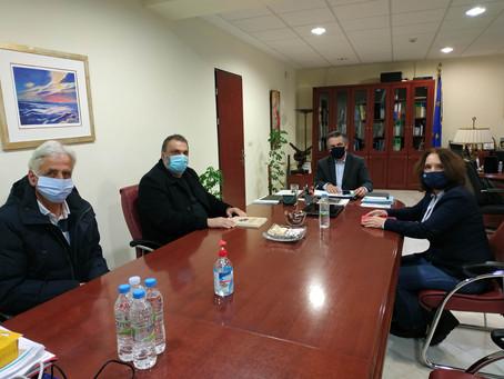 Συνάντηση με τον Περιφερειάρχη Δ. Μακεδονίας για τα φλέγοντα ζητήματα της περιοχής