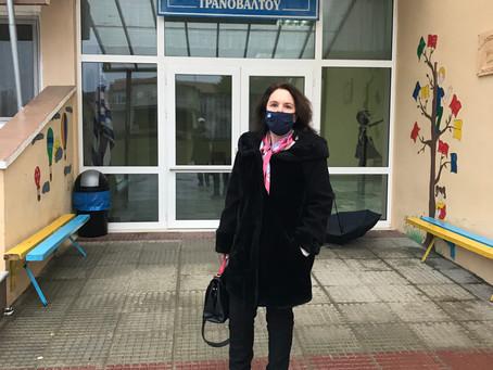 Επισκέψεις στα σχολεία του Τρανόβαλτου και του Λιβαδερού –Παράδοση υγειονομικού υλικού