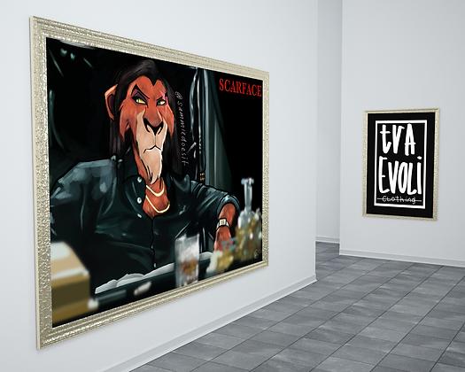 Scar-Face Canvas