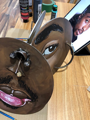 Abstract Pac Metal Sculpture