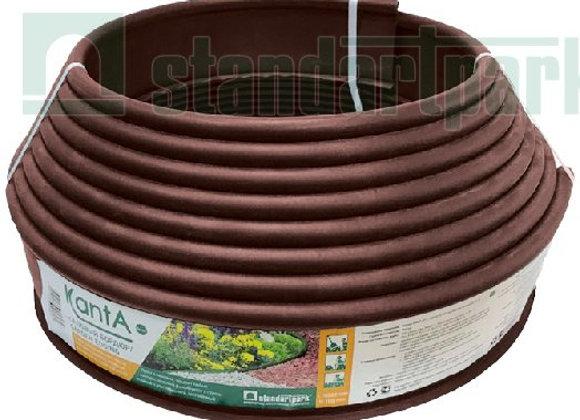 """Садовый бордюр """"Канта"""" коричневый, 10 м."""