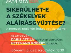 Patrióta Esték: Sikerülhet-e a székelyek aláírásgyűjtése?