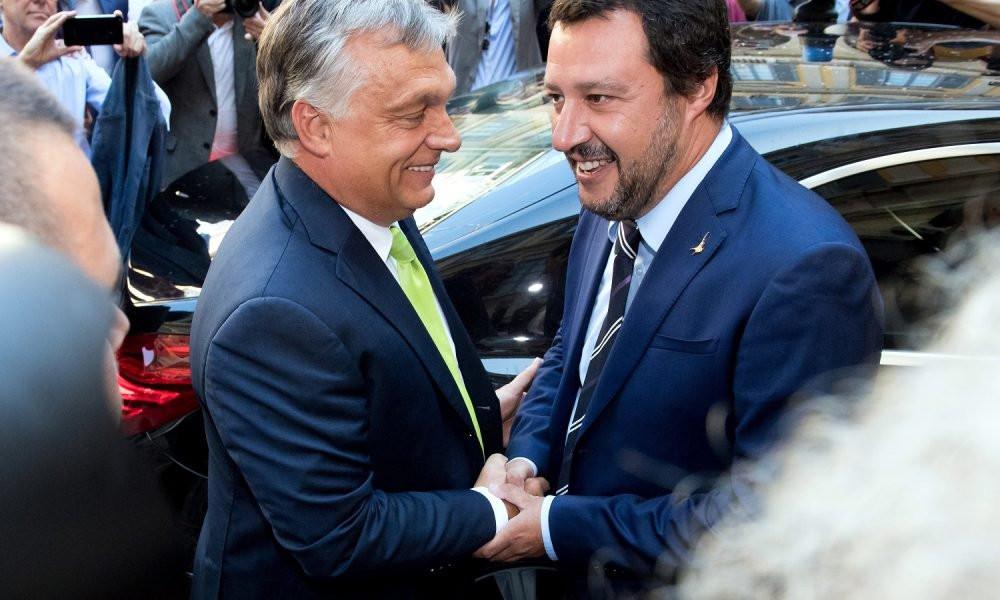 Orbán Viktor és Matteo Salvini tavaly augusztusi találkozója Milánóban (Fotó: MTI/Koszticsák Szilárd)