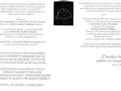 Meghívó Csömör Nagyközség Trianon-emlékoszlopának avatására