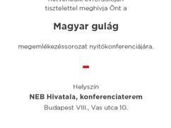Magyar gulág megemlékezéssorozat, nyitókonferencia. Meghívó 2020.02.20.