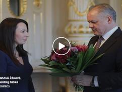 A szlovák államfő fogadta Zsák Malina Hedviget