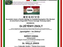 """A Hegyvidéki Trianon Harangja Társaság meghívója 2019. okt. 15-re: """"Igazságtétel – lex Zétényi"""". Elő"""