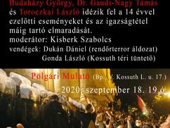 Mi lesz veled, 2006? Nyilvános beszélgető est Budaházy György, Dr. Gaudi-Nagy Tamás, Toroczkai Lászl