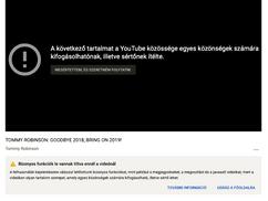 Már a YouTube is cenzúrázza Tommy Robinsont