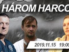 A három harcos: Budaházy Edda, Budaházy György és Mónus József 2019. nov. 15-én a Polgári Mulatóban!