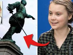 XII.Károly svéd király szobrát Greta Thunberg szobrára szeretné kicseréltetni a korábbi svéd polgárm