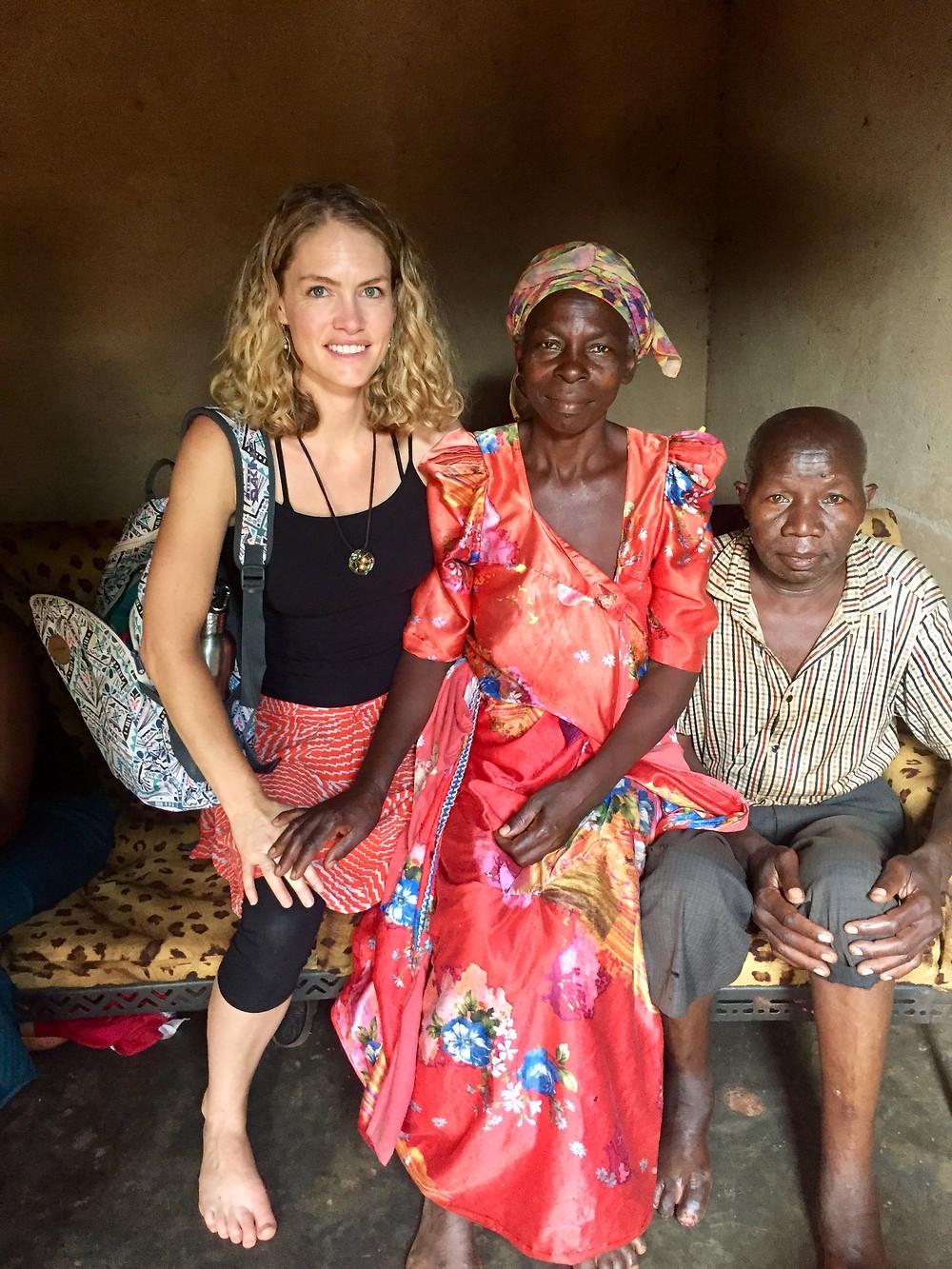 My friends Florence and Ngobi.