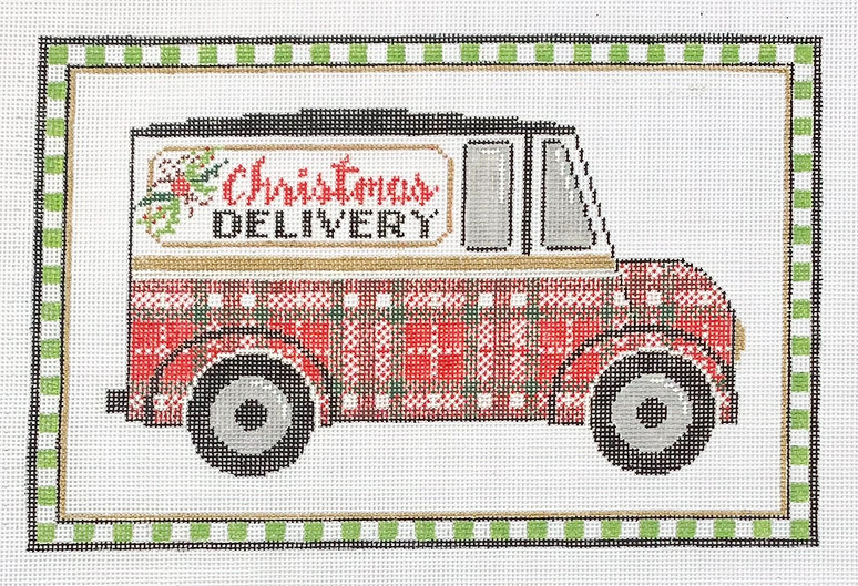 Christmas Delivery Truck Close Up