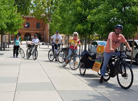 La caravane à vélo de la LCT : Une journée sous le signe de l'écologie.