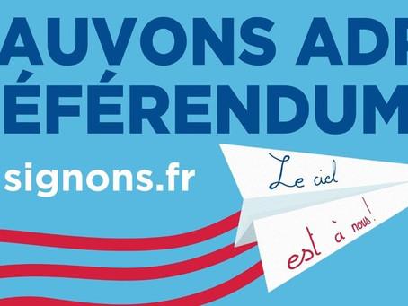 Un référendum au sujet de la privatisation des aéroports de Paris