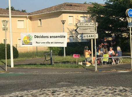 Ce matin nous étions à l'embranchement du Chemin de Pahin et de la rue Marcel Pagnol.