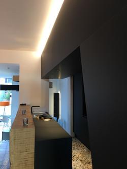 espace bar et cuisine