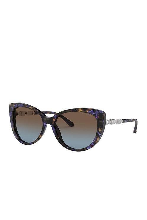 Michael Kors Blue Tort Cat Eye Sunglasses