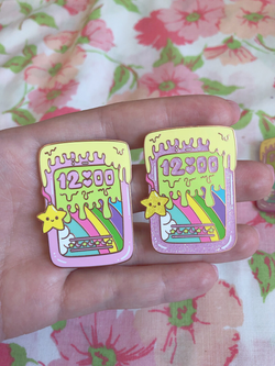 Drippy Rainbow Phone Enamel Pin