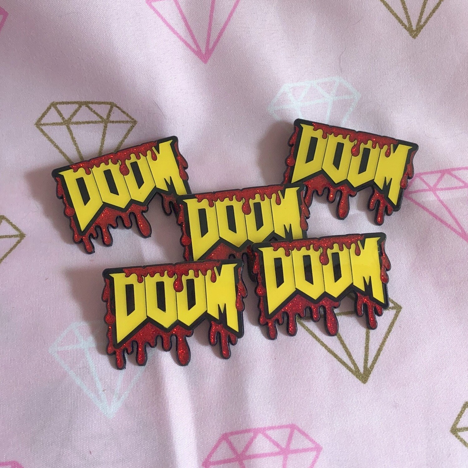 Glow in the Dark Doom Pin