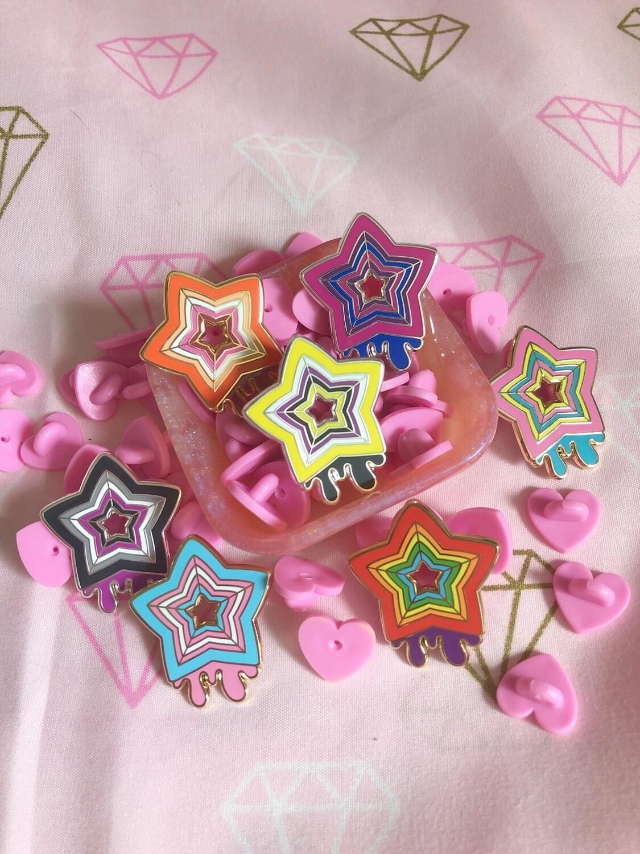 Pride KityCrylics pin