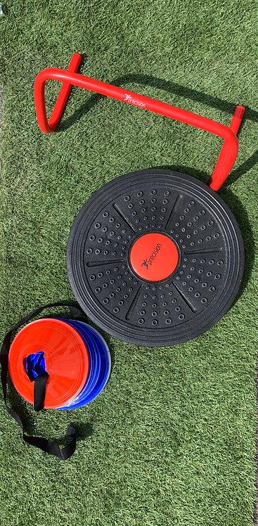 Training Bundle, Cones, Balance Board, Hurdle