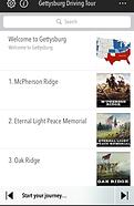 Gettysburg Tour App Screen
