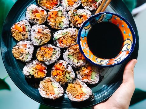 vegan toona sushi
