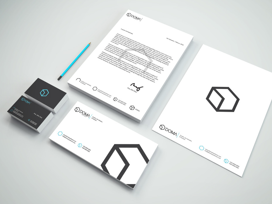 Brand stationary for DOMA