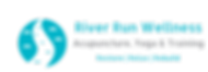 Rive Run Logo Restore Relax Rebuild. Acupuncture, Yoga & Training