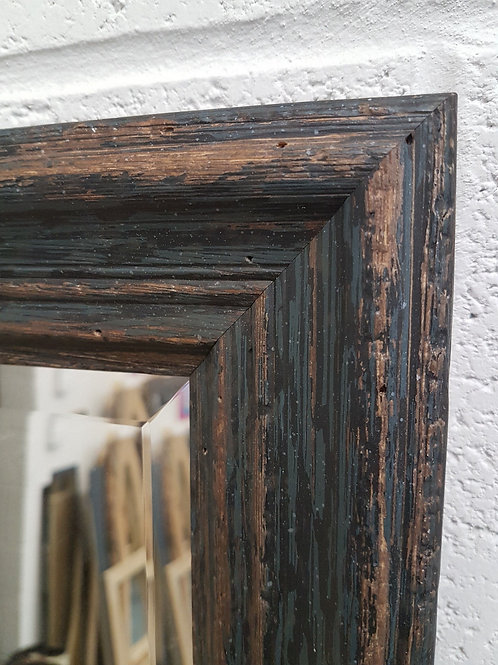 Handcrafted Distressed Shabby Chic Mirror Black