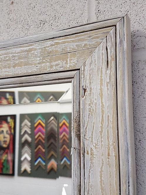 Handcrafted Mirror White Drift Wood Shabby Chic