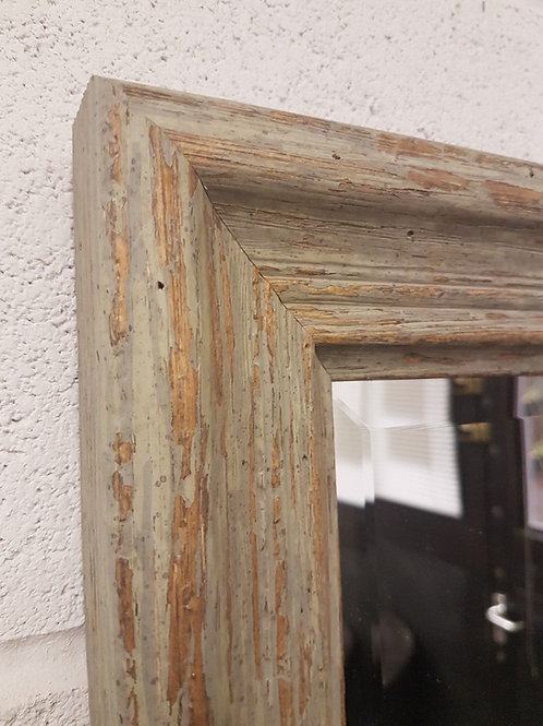 Handcrafted Distressed Shabby Chic Mirror Green