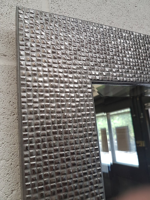Pewter Mosaic Bevelled Mirror