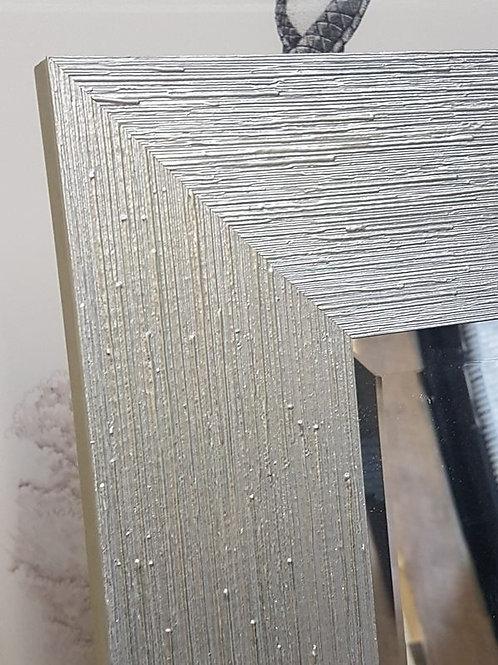 Handmade Decorative Bevelled Mirror Brushed Silver