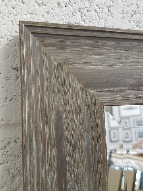 Handcrafted Limed Grey Bevelled Mirror