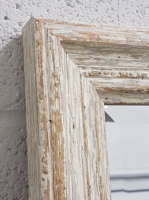 Handcrafted Distressed Shabby Chic Mirror White