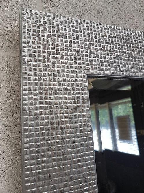 Silver Mosaic Bevelled Mirror