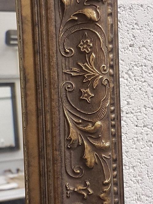 Floral Bronze Ornate Bevelled Mirror