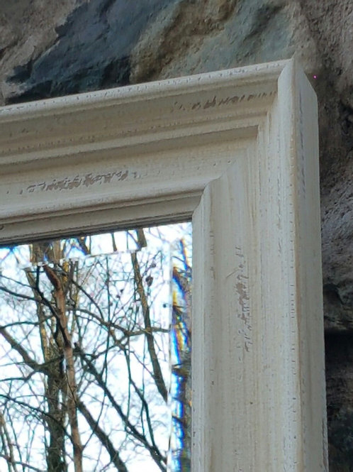 Handcrafted Distressed white Shabby Chic Mirror
