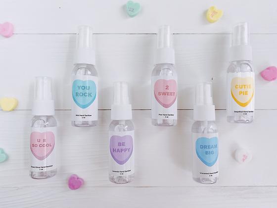 Candy Heart Valentine's Day Hand Sanitizer