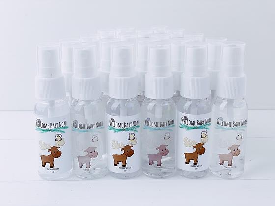 Forest Friends Baby Shower theme Hand Sanitizer