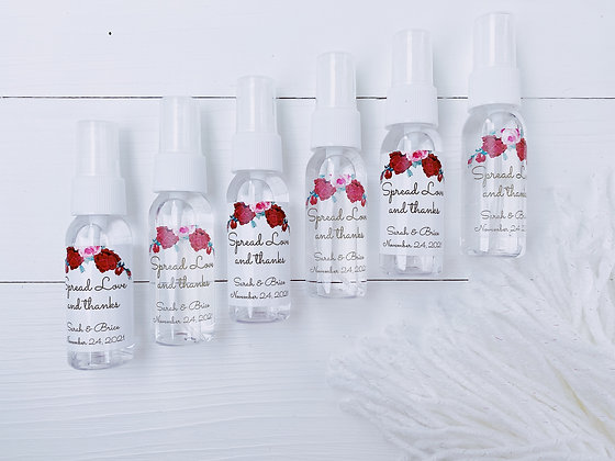 Red and Pink Rose Theme Hand Sanitizer