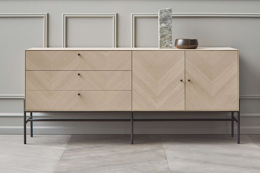bolia luxe sideboard in living room