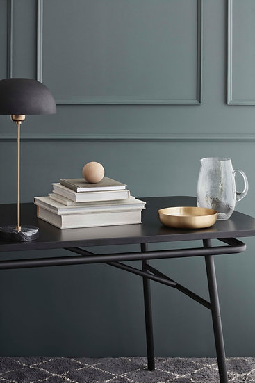 broste copenhagen moon dining table black laminate
