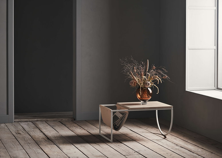 bolia piero small coffee table in hallway