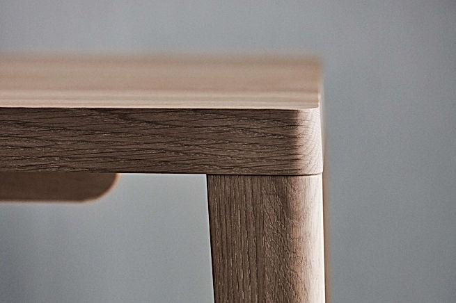 Handmade Danish oak dining table