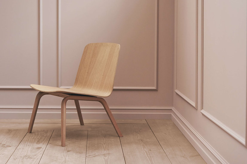 bolia palm lounge chairs in oiled oak