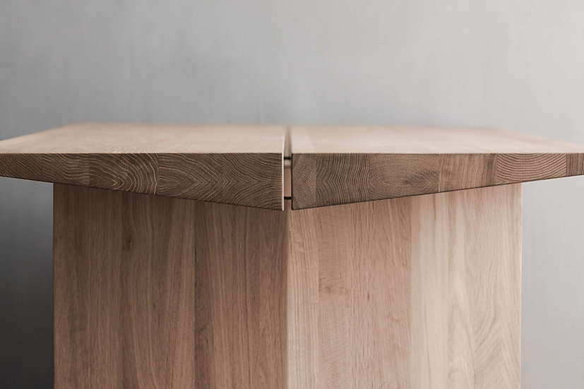 bolia alp dining table end view
