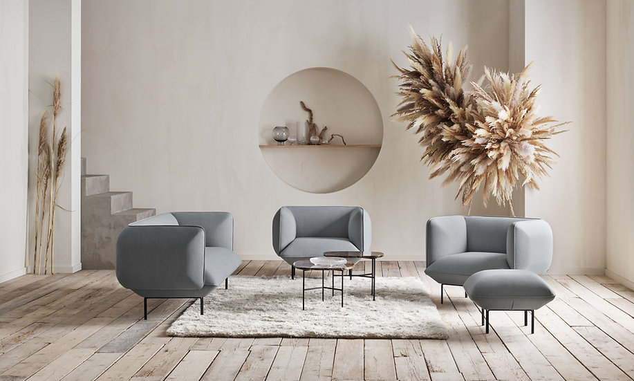 bolia pod coffee tables in lounge